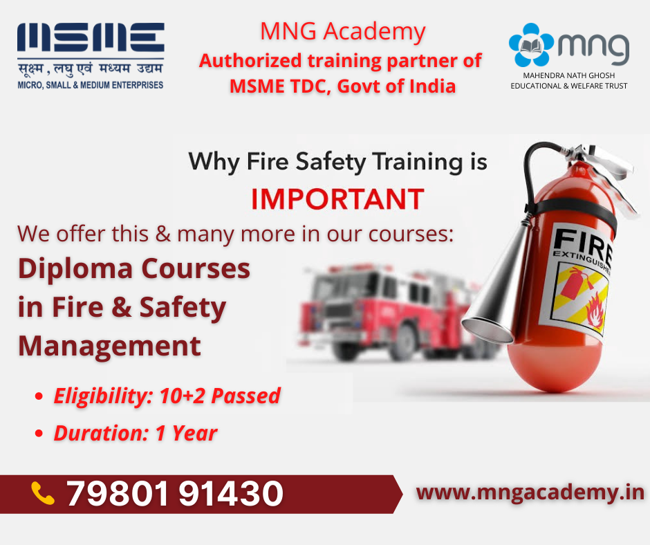MNG Academy is situated at @ Address: 134/1 Southern Avenue, Gol Park, 3rd Floor, Kolkata – 700 029, Contact us at Toll-Free: 1800 8891 301, Mobile: 62905 08669/ 79801 91430, Email: info@mnagacademy.in, visit us at www.mngacademy.in Recent Posts MNG Academy - The Official Study Center of NSOU Conducting Nursing Course Nursing FAQs Importance of Fire Safety in Kolkata Everything to know about